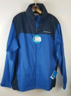 Columbia Glennaker Lake Rain Jacket With Hood NWT Blue Size L