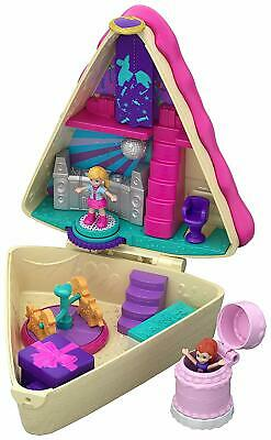 Polly Pocket GFM49 Birthday Cake Bash Compact, 2 Dolls and Accessories