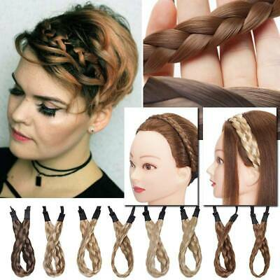 3 Size Headband Real Thick Crown Braid Plait Dutch Braids Updo Hair Extensions