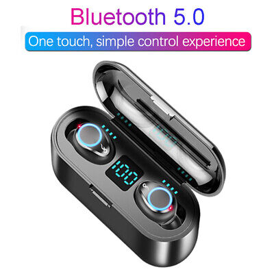 F9 Wireless Earphones Bluetooth 5.0 Headset 8D Surround TWS Earphones Sports