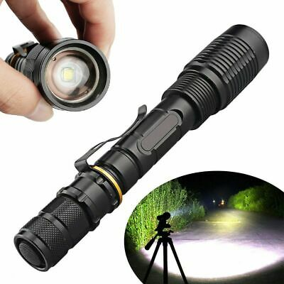 Tactical Police 990000 Lumens T6 5Modes Zoomable LED Flashlight Aluminum Torch