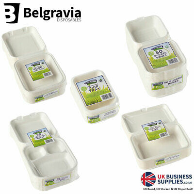 Belgravia Caterpack 100% Biodegradable & Compostable Takeaway Food Containers