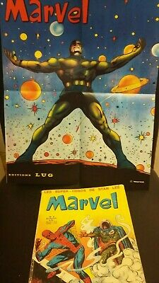 MARVEL 8 LUG EO en BE - 1970 Epoque FANTASK / STRANGE + POSTER Fac Similé TBE