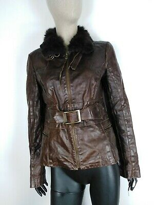 LIST CAPPOTTO VERA PELLE MADE IN ITALY  Giubbotto Jacket Giacca Tg L Donna