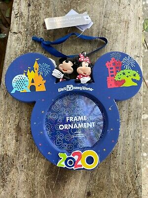 Disney Parks 2020 Mickey Mouse Icon Christmas Disney World  Frame Ornament