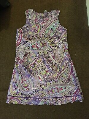 Marks and Spencer Faux Silk Patterned Pjamas Top Skirt Age 14 years nightwear xs