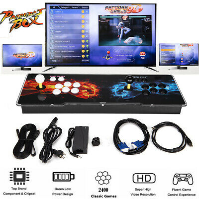 Pandora's Box 2400 in 1 Video Games Double Stick Retro Arcade Console Support TV