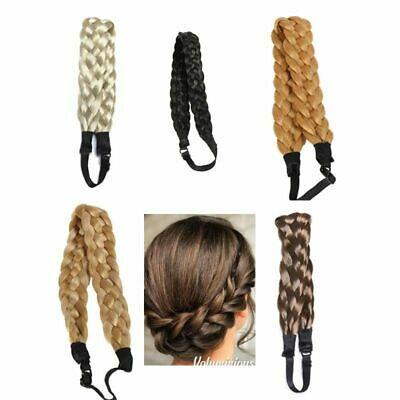Wide Bohemian Wigs Braid Thick Fishtale Headband Fashion Hair Hair Accessories
