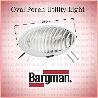 New #78 12v Porch//utility Light W//switch bargman 30-78-518 With Amber Lens