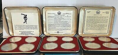 Canada 1976 Olympic Proof Silver Coins  3  - 4 Coin Sets From A Huge Collection