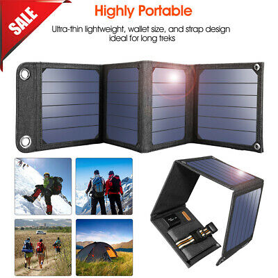 Suaoki Outdoor 14W 5V Foldable USB Port Solar Charger Panel For Smart Phone IPad