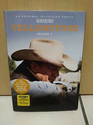 Yellowstone: Season One (DVD, 2018, 3-Disc Set) New & Sealed with Slipcover!!