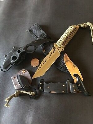 4 Knives - Bulk Factory 2nds Sale Tactical Fixed Blades And Folding Knife