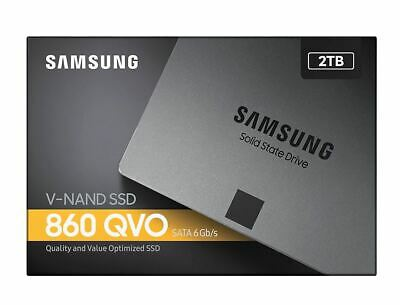 """Samsung 860 QVO 2TB,V-NAND, 2.5"""". 7mm, SATA III 6GB/s, R/W(Max) 550MB/s/520MB..."""