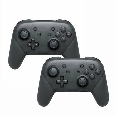 2x Wireless Bluetooth Pro Controller Gamepad Charging Cable for Switch