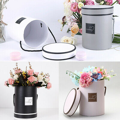 Handheld Bouquet Flower Boxes Round Living Vases Florist Box Plant Boxes Fashion