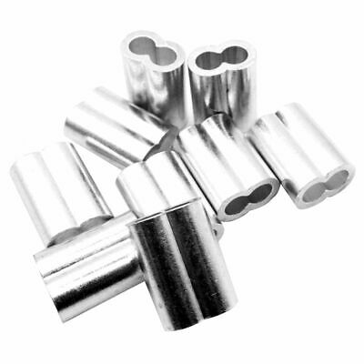 5/16inch Wire Rope Aluminum Sleeves Clip Fittings Cable Crimps 10pcs H5L3