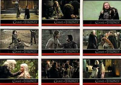 2012 GAME OF THRONES SERIES 1 Complete Basic TRADING CARD SET
