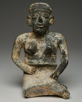 MUSEUM Displayed JALISCO Seated Female, Precolumbian, Mayan MAKE AN OFFER