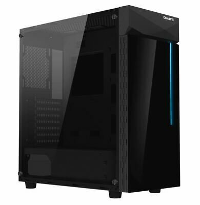 "Gigabyte C200 RGB Tempered Glass ATX Mid-Tower PC Gaming Case 2x3.5"" 2x2.5"" 2..."