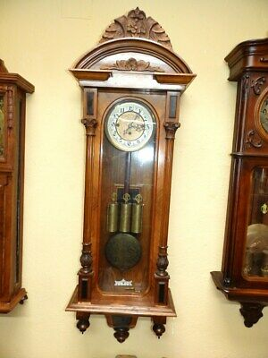 Three Weight Grand Sonnerie Wall Clock Regualtor  1860 -1880 Gustav Becker