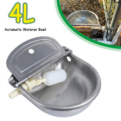 4L Large Automatic Bowl Water Drinker Dispenser For Horse Sheep Dogs Drink Bowl