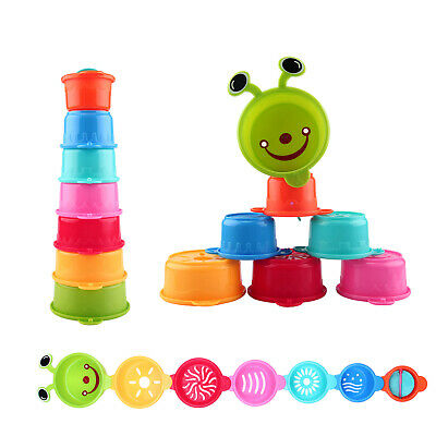 Caterpillar Spillers Stacking and Straining Cups Bath Toy for Kids Baby