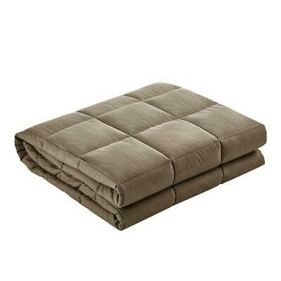 Giselle Bedding 9KG Cotton Gravity Weighted Blanket Deep Relax Calm Adult Brown