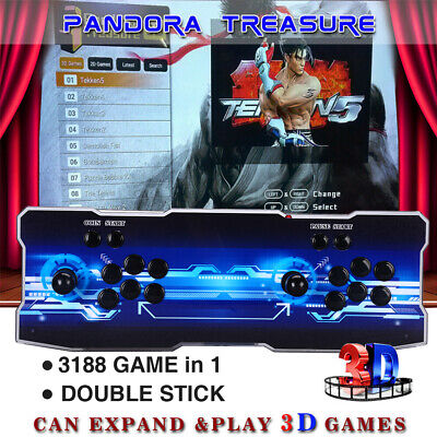 Pandora's Box 12 3188 in 1 Family Game 4Player Retro Console HD 3D VGA Fr Laptop