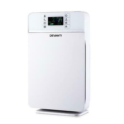 Devanti Air Purifier HEPA Filter 220m³/h CADR Home Freshener Ioniser Odor Dus