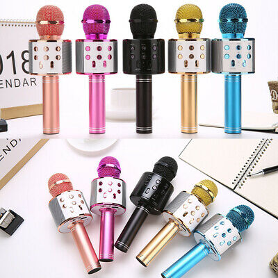 Handheld Wireless Bluetooth Karaoke WS-858 Microphone USB KTV Player Speaker MIC