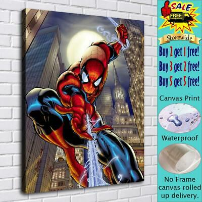 """16""""x20""""Spiderman HD Canvas prints Painting Home decor Picture room Wall art"""