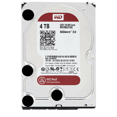 """WD Red 4TB NAS 64MB 3.5"""" 5400RPM SATA3 6Gb/s 64MB Cache WD40EFRX"""