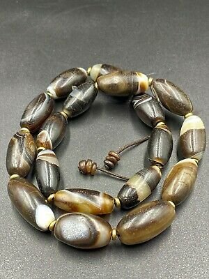 Vintage Strand of Banded Agate beads