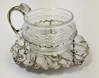 HUKIN & HEATH AESTHETIC MOVEMENT SILVER PLATED JAM POT c1880​