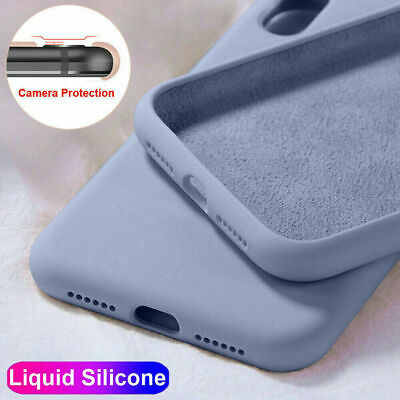 Case For iPhone 11 Pro XS Max XR 7 8 Plus Soft Liquid Silicone Shockproof Cover
