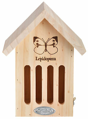 Silhouette Slotted Wooden Wood Butterfly House - 100% FSC
