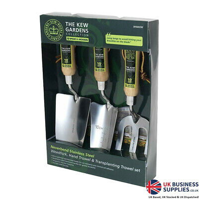 The Kew Gardens Collection Stainless Steel Fork & Trowel 3 Piece Set
