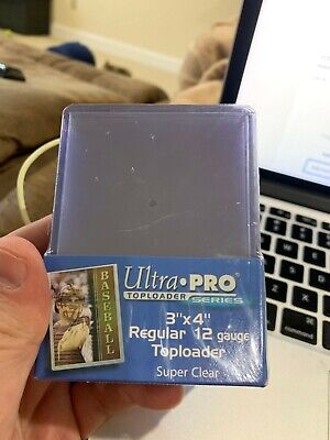 25 Ultra Pro Regular 3 x 4 Toploaders New top loaders New Sealed