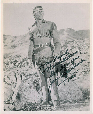 """Jay """"Tonto"""" Silverheels - Autographed Inscribed Photograph"""
