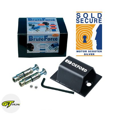 Oxford Brute Force Ground Anchor | LK397 | Motorcycle Motorbike Scooter Security