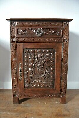 19th Century Antique Victorian French Revolution Oak Confiture Cabinet