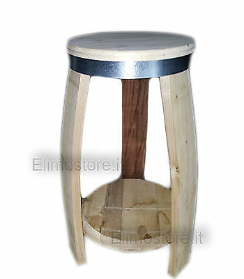 Antique Wooden Stool by Cots Barell 60 cm Barrique