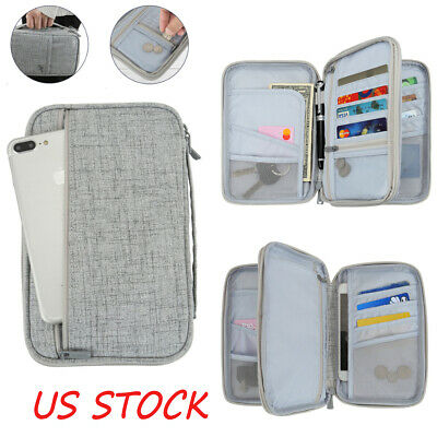 Rfid Passport Wallet Holder RFID Blocking ID Card Case Cover for Securely Travel