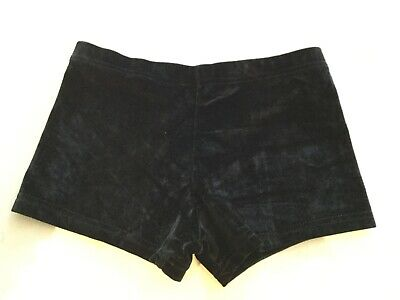 Girls Gym Dance Velour Black Shorts Aged 12-14 Years Excellent Cond