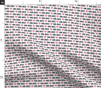 Girl Gang Boss Power Girls Hearts Fabric Printed by Spoonflower BTY