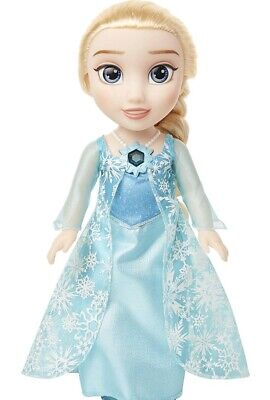 "Disney Frozen Snow Glow Elsa Doll 14"" Wearing Iconic ICY Blue Dress Singing Doll"