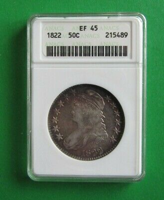 1822 Capped Bust Half- ANACS Graded EF45- Old Holder