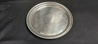 A Beautiful Antique Silver Plated Serving Tray By Mappin And Webb.very ornate.