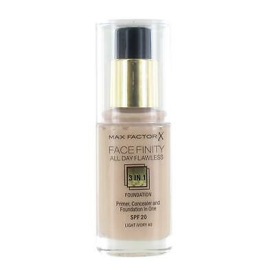 Max Factor Facefinity All Day Flawless 3 in 1 Foundation 30ml -#040 Light Ivory